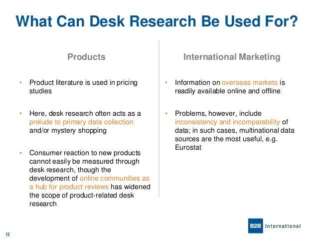 An Introduction To Desk Research