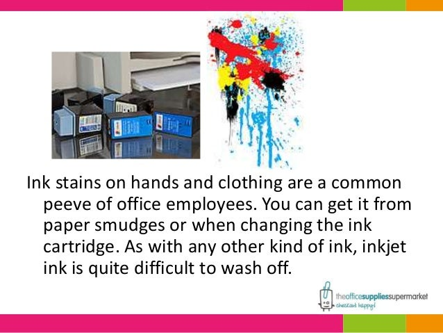 How to get inkjet ink out of clothes; 2. Ink ...