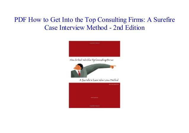 How To Get Into The Top Consulting Firms Pdf
