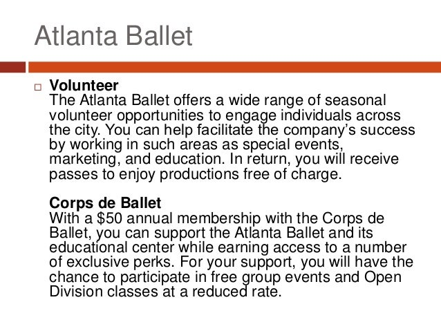 How to Get Involved with the Atlanta Ballet Slide 3