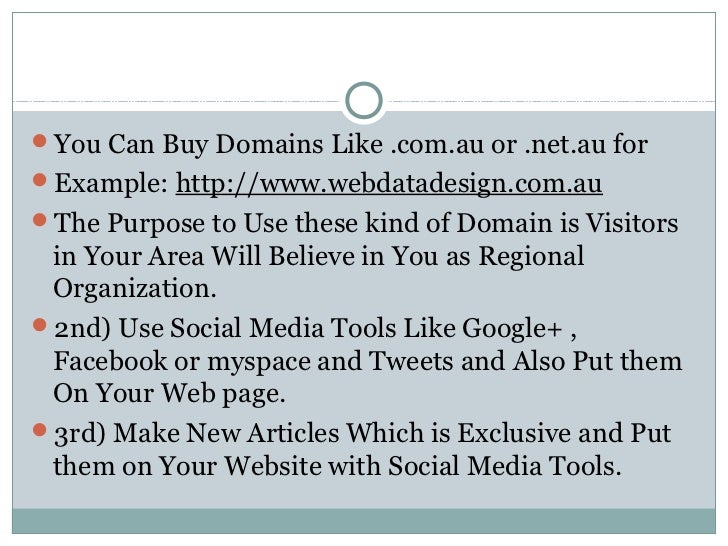 How to get local traffic Slide 2