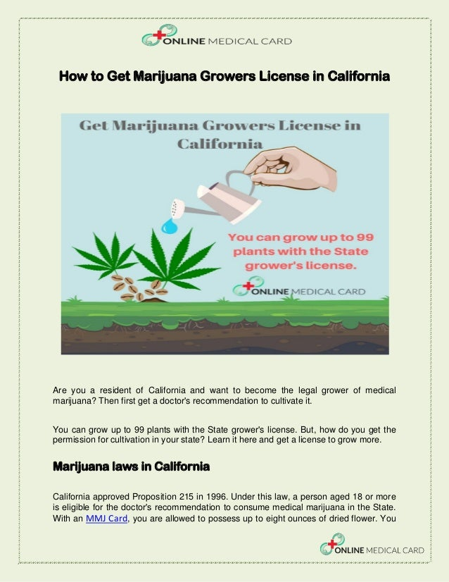 How to Get Marijuana Growers License in California