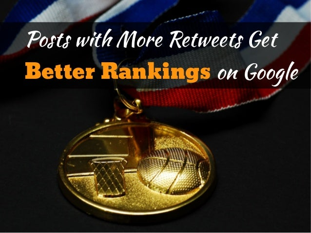 Posts with More Retweets GetBetter Rankings on Google