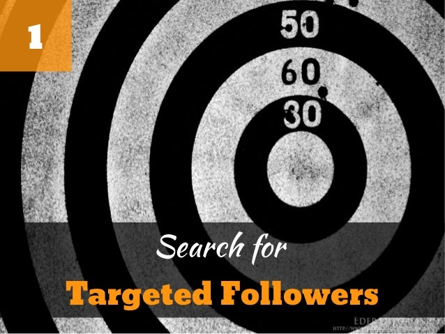 1         Search for    Targeted Followers
