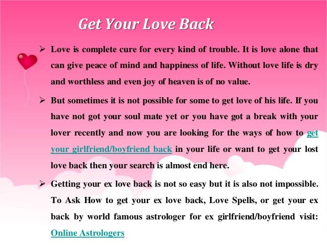 Back Your How Lover Get To