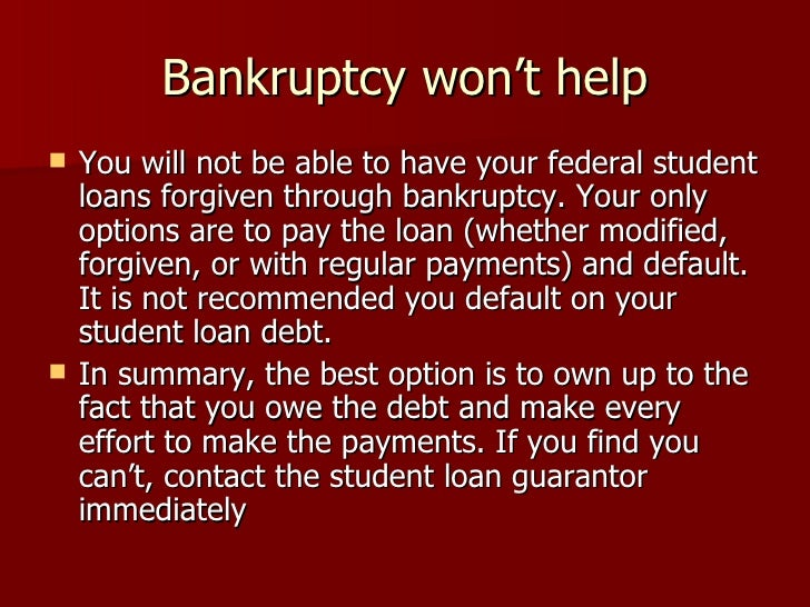 how to get yourself out of student loan debt