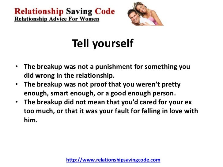 steps to get over a breakup