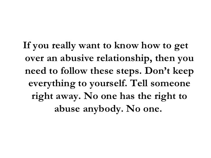 how to get over an abusive boyfriend