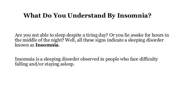How to get over insomnia? Slide 2