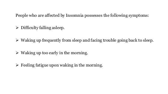 How to get over insomnia? Slide 3