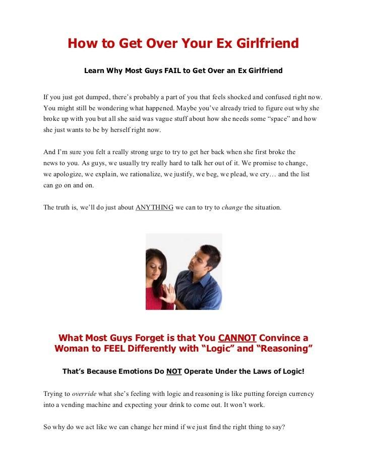 Best way to get over your ex wife