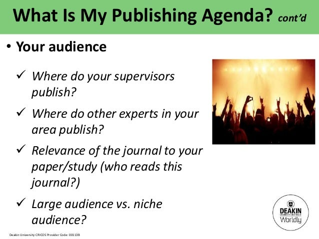 Thesis content and article publishing