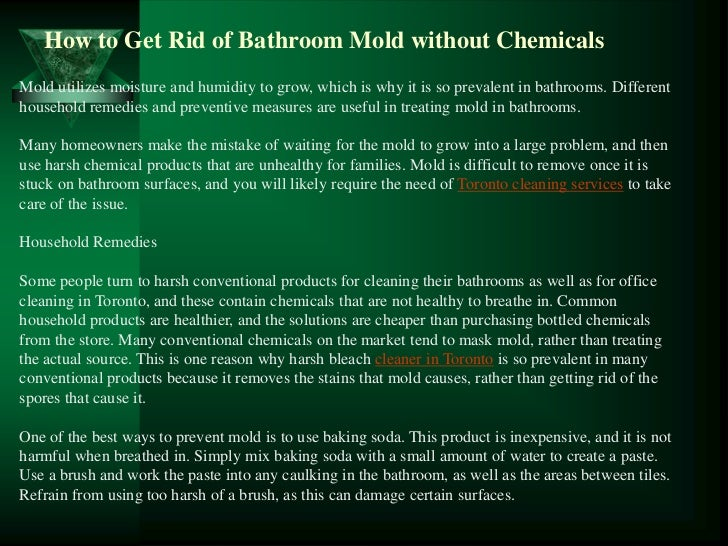 how to get rid of bathroom mold without chemicals. Black Bedroom Furniture Sets. Home Design Ideas