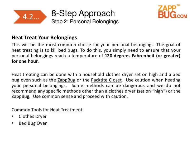 how to kill bed bugs in dryer