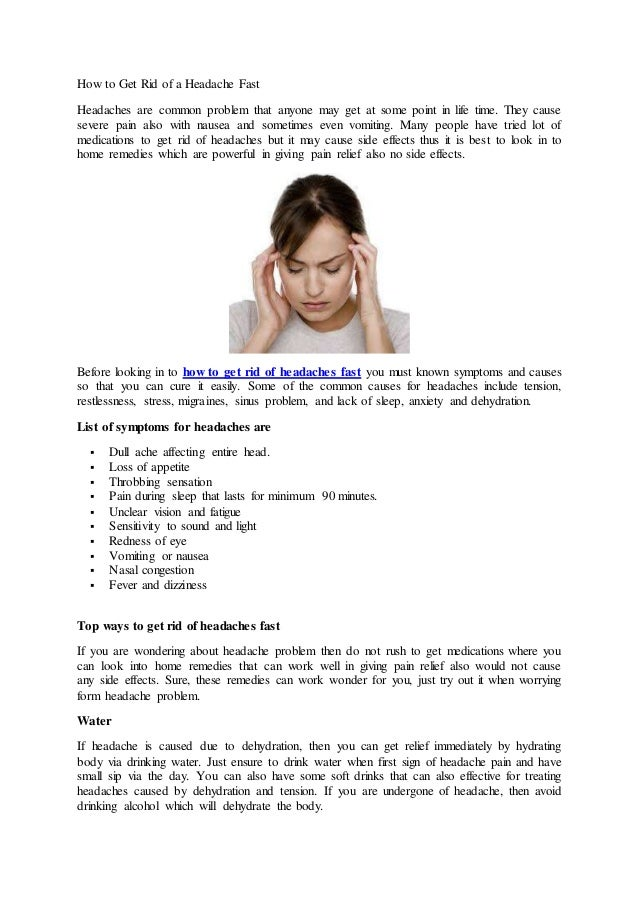 How to get rid of severe headache