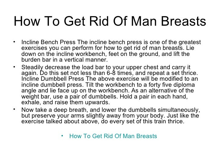 How to Get Rid of Man Breasts Slide 3