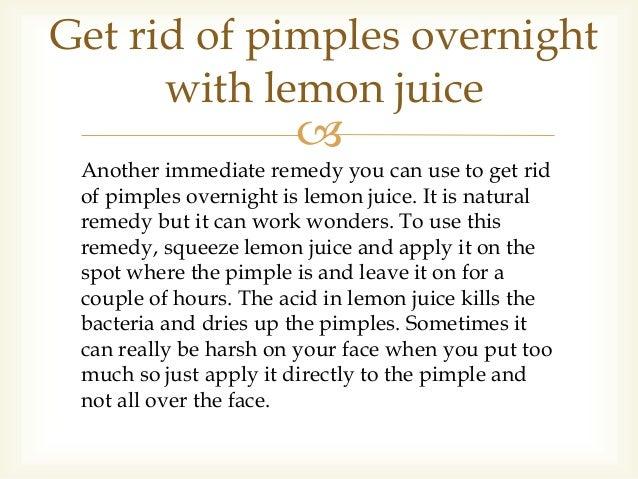 Does Lemon Juice Get Rid Of Pimples