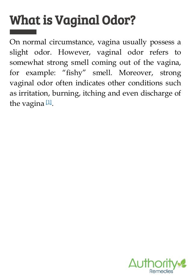 3. What Causes Vaginal Odor?