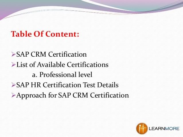 crm certification consigne lire une sap plait dessous ci vous