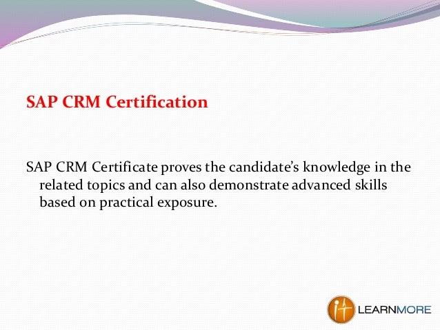 crm sap certification presentation certificate beginners skills