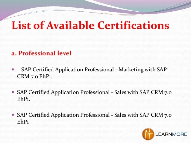 sap crm certification questions and answers pdf