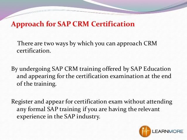 crm sap certification