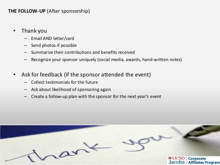 How To Get Sponsorship For Student Orgs