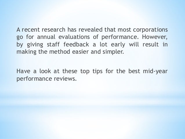 mid year reviews tips