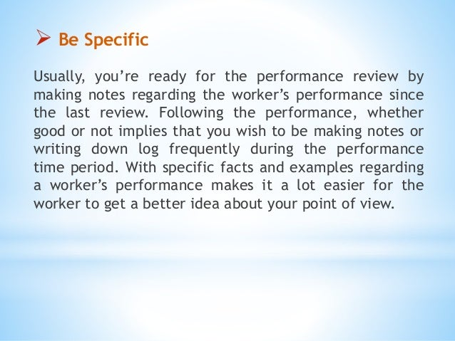 mid year reviews examples