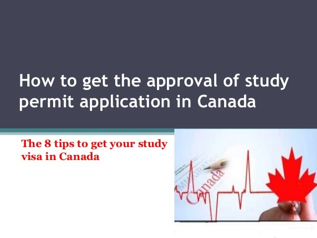 APPLICATION FOR A STUDY PERMIT – CHECKLIST The Canadian ...