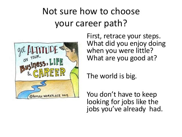 Not sure how to choose your career path? First, retrace your steps. What did you enjoy doing when you were little? What ar...