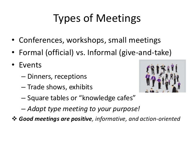 business report types and purposes of meetings