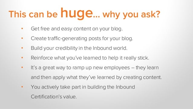 This can be huge... why you ask? • Get free and easy content on your blog. • Create traffic-generating posts for your blog...