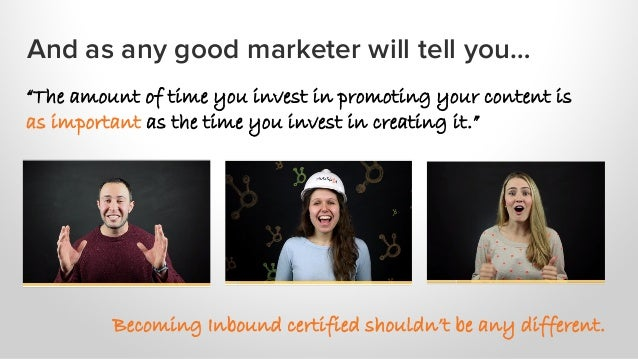 """And as any good marketer will tell you… """"The amount of time you invest in promoting your content is as important as the ti..."""