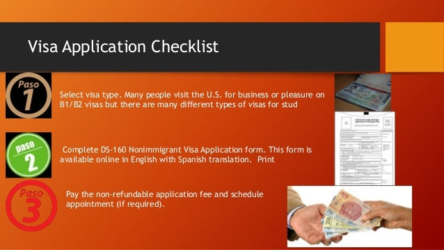 What are the requirements for getting a visitor's visa for the USA?