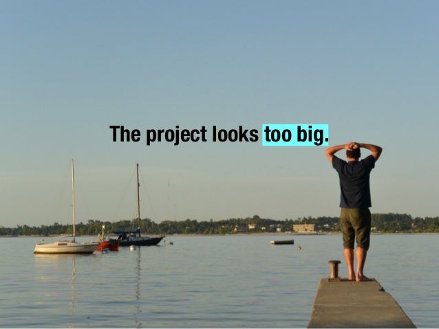 The project looks too big.