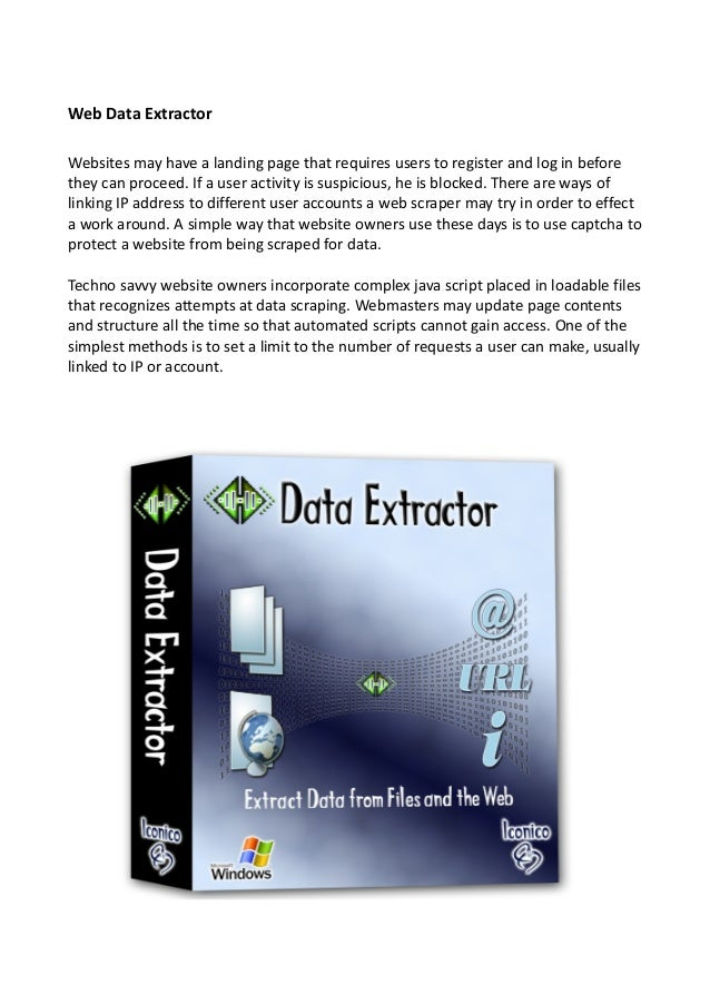 How to get web data extractor from online sources