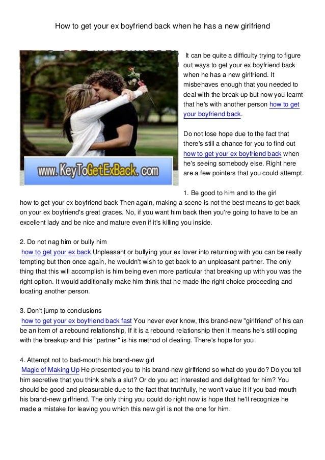 How To Get Back A Guy Who Dumped You