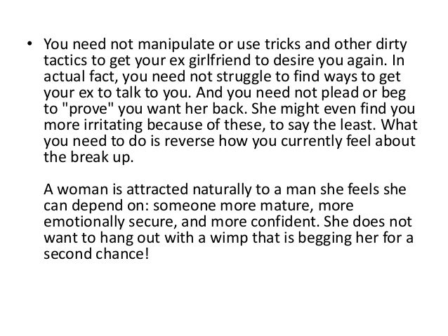 How to manipulate your ex