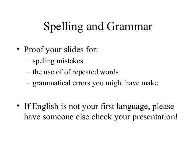 how to make a successful presentation in english