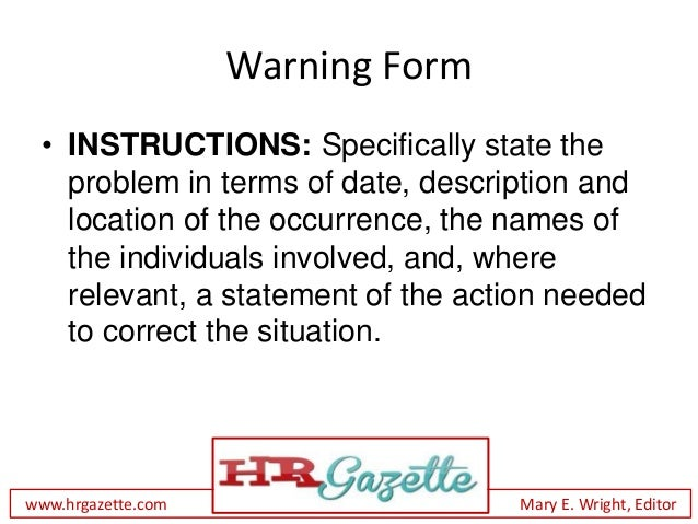 How to give a written warning to an employee with form warning form thecheapjerseys Images