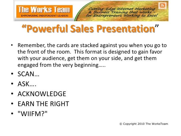 21 powerful sales presentation