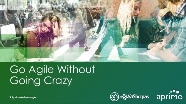 Go Agile Without Going Crazy #AprimoAdvantage