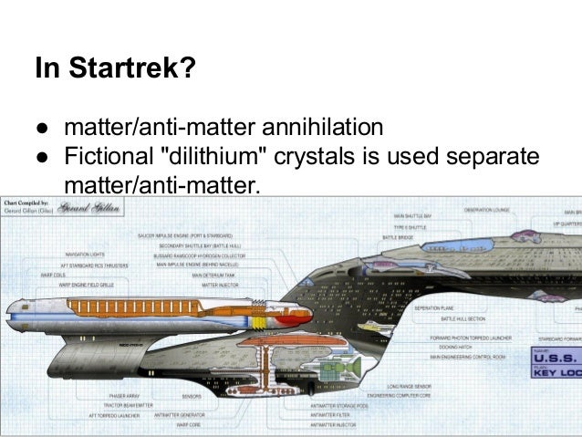 """In Startrek? ● matter/anti-matter annihilation ● Fictional """"dilithium"""" crystals is used separate matter/anti-matter."""