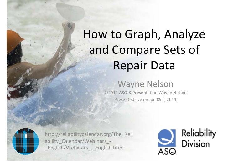 HowtoGraph,Analyze                 andCompareSetsof                     RepairData                               ...