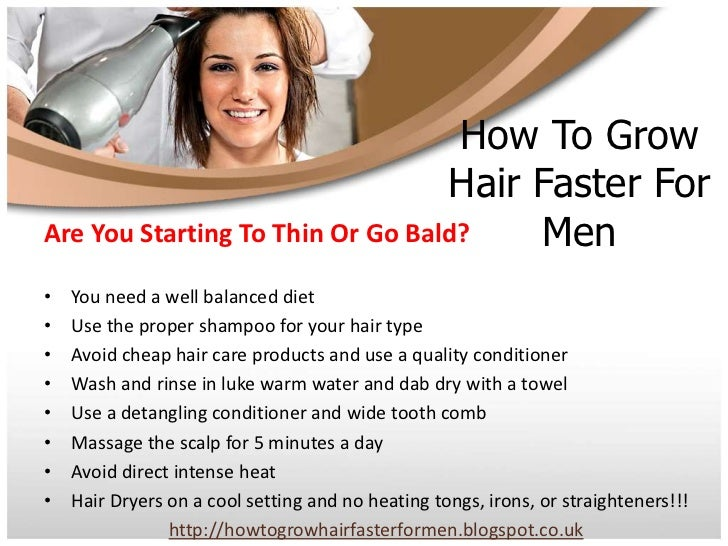 How To Grow Hair Faster Naturally For Guys