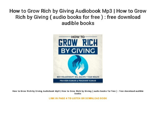 How to Grow Rich by Giving Audiobook Mp3 | How to Grow Rich