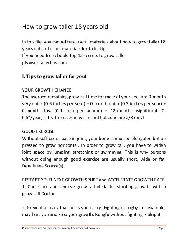 How to grow taller 18 years old  In this file, you can ref free useful materials about how to grow taller 18  years old an...