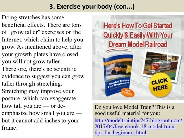 """3. Exercise your body (con...) Doing stretches has some beneficial effects. There are tons of """"grow taller"""" exercises on t..."""