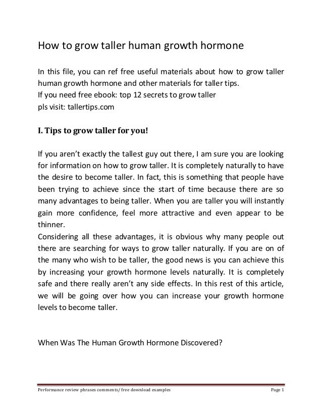How to grow taller human growth hormone  In this file, you can ref free useful materials about how to grow taller  human g...